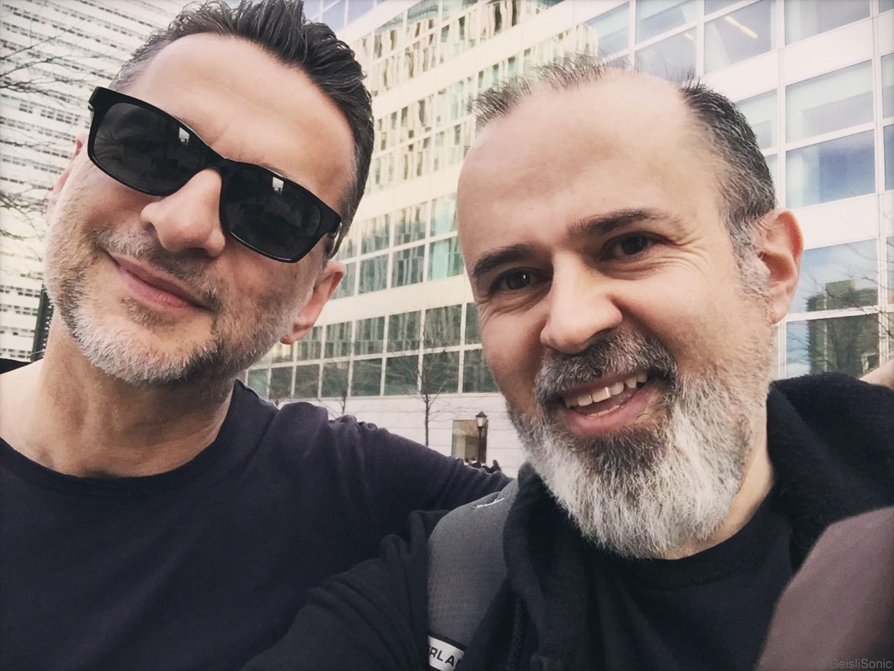 Dave Gahan con Roberto Baldi