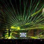 La fotogallery del laser show con Fatboy Slim a Milano