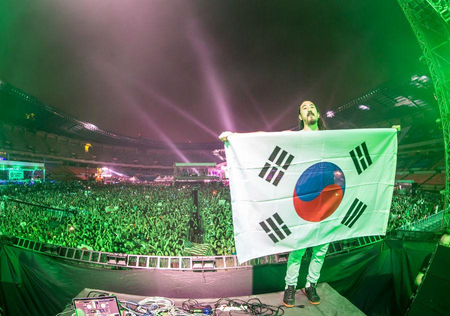 steve aoki @ Ultra Korea