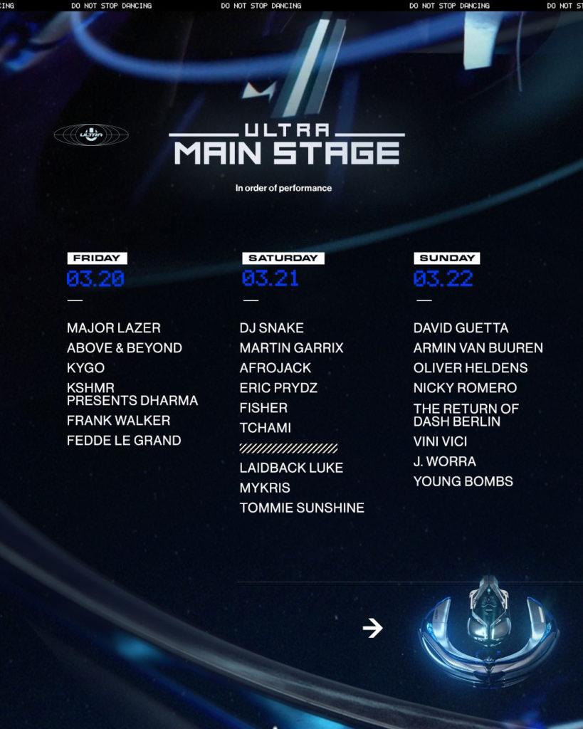 UMF 2020 main stage